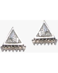 Shana Gulati Karga Stud Earrings - Metallic