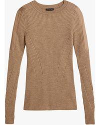 Rag & Bone Emory Wool Crew Slim Fit Midweight Sweater - Natural