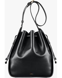 A.P.C. Courtney Bucket Bag - Black