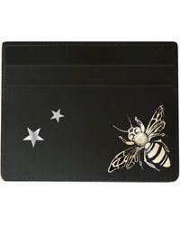 Alepel Queen Bee & Stars Vegan Leather Card Holder - Black