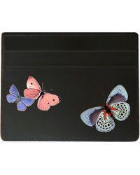 Alepel Butterflies Vegan Leather Card Holder - Black