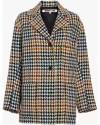McQ Houndstooth Top Coat - Multicolor