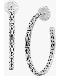 Lois Hill - Curly Filigree Hoop Earrings In Sterling Silver - Lyst