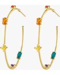 Eden Presley Goddess Hoop Earrings - Multicolor