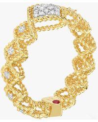 Roberto Coin - Center Diamond Ring - Lyst