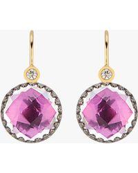 Larkspur & Hawk - Small Olivia Button Diamond Earrings - Lyst