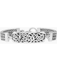 Lois Hill - Sterling Silver Id Bracelet - Lyst