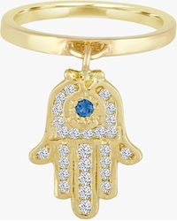 Eden Presley Large Charm Ring - Blue