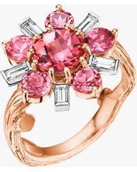 Mimi So Wonderland Pink Tourmaline Flower Ballerina Ring