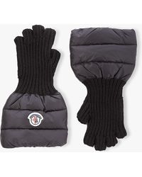 Moncler - Fingerless Wool Gloves - Lyst