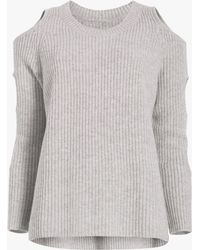 Zoe Jordan Galileo Cashmere Wool Sweater - Gray
