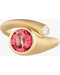 Carelle Whirl Pink Tourmaline And Diamond Ring