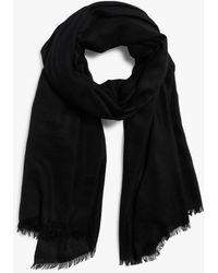 Sofia Cashmere Women's Eyelash Fringed Pure Cashmere Wrap - Black