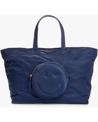Anya Hindmarch East-west Large Chubby Wink Tote Bag - Blue