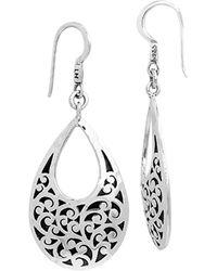Lois Hill Signature Drop Earrings - Metallic