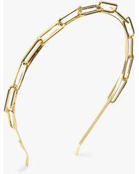Lelet Chain Link Headband - Metallic
