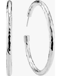 Ippolita - Classico Large Hammered Hoop Earrings - Lyst