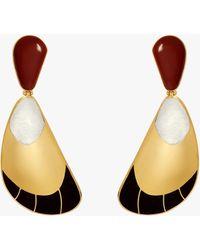 Monica Sordo Garzon Drop Earrings - Metallic