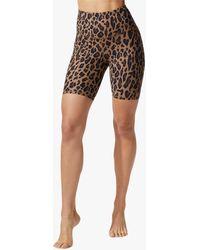 Michi Women's Instinct Bike Short In Black/brown/leopard Size Xl