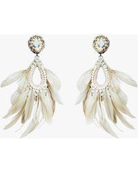 Ranjana Khan Blanca Clip-on Earrings - White