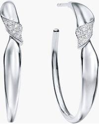 Ippolita - Stardust Folded Pavé Hoop Earrings - Lyst