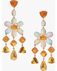 Nina Runsdorf - Fire Opal Flower Earrings - Lyst