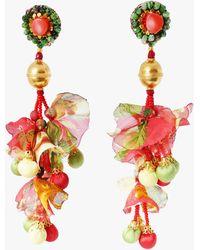 Ranjana Khan Calendula Clip-on Earrings - Pink