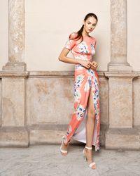 Adriana Iglesias Women's Back Floral Maxi Dress - Pink