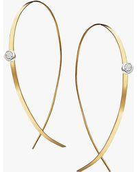 Lana Jewelry - Flat Upside Down Diamond Hoops - Lyst