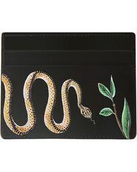 Alepel Serpent Vegan Leather Card Holder - Black