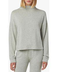 Hudson Jeans Women's Mock Neck Sweater - Gray