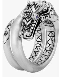 John Hardy - Naga Black Spinel Ring - Lyst