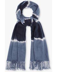 Charlotte Simone Betty Tie Dye Scarf - Blue