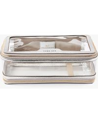 Anya Hindmarch Clear Plastic Inflight Case - Metallic