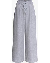 Adam Lippes Women's Jersey Wide-leg Pants - Gray