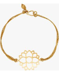 Pippa Small Lotus Cord Bracelet - Metallic