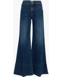 FRAME Women's Palazzo Panel Slit Jeans - Blue