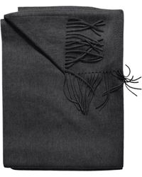 Sofia Cashmere - Cashmere Woven Fringe Throw - Lyst