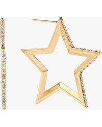 Kwiat Star Hoop Earrings - Metallic