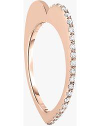 Kwiat Love Pave Ring - Metallic