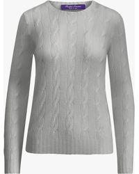Ralph Lauren Collection - Classic Cable Sweater - Lyst