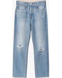 Rag & Bone Maya High-rise Ankle - Harper Slim Fit Light Blue Indigo Jean