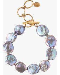 Chan Luu - Keshi Pearl Beaded Bracelet - Lyst
