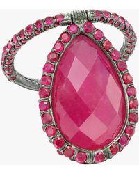 Nina Runsdorf - Large Ruby Flip Ring - Lyst
