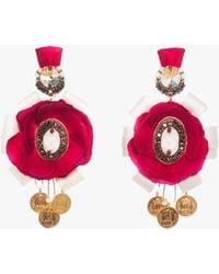 Ranjana Khan Rosella Clip-on Earrings - Pink