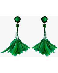 Ranjana Khan Sofia Clip-on Earrings - Green