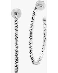 Lois Hill Classic Scroll Hoop Earrings - Metallic