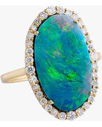 Sanjay Kasliwal Abilash Opal & Diamond Ring - Multicolor
