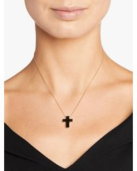 Roberto Coin Pois Moi Cross Pendant Necklace - Metallic