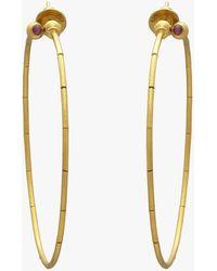 Gurhan - Large Delicate Rain Hoop Earrings - Lyst